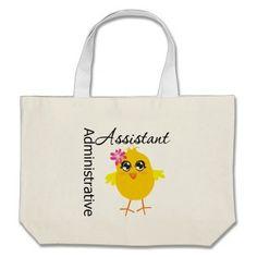 Cute Career Chick Administrative Assistant Tote Bag #administrativeprofessionalsday #appreciationstote #appreciationsgifts