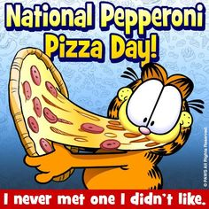 GARFIELD AND PIZZA