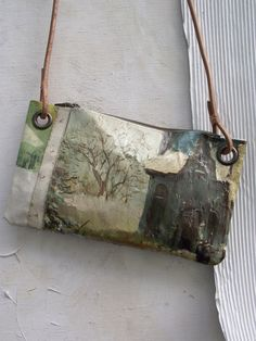 ONE OF A KIND PAINTING BAG - Friesland A series of unique, leather handled carry bags made by hand using vintage oil paintings sourced exclusively ...