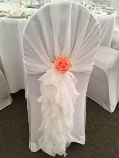 Ruffle chair hoods used at The Beaverwood, Chislehurst, Kent. Hoods, Wedding Venues, Vase, Weddings, Chair, Beautiful, Home Decor, Wedding Reception Venues, Cowls