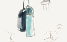 Ireland lamp by Stone Designs for B.Lux, 2016 #sketch #blux #stonedesigns
