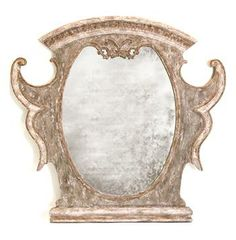 Versailles French Country Antique Gold Distressed Carved Mirror - above fireplace?