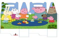 Peppa Pig Printables, Free Printables, Aniversario Peppa Pig, Cumple Peppa Pig, George Pig, Pig Party, Origami, Boy Birthday, Alice