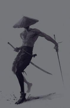 Samurai with the swords by SID75.deviantart.com on @deviantART