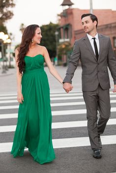 Glamorous Los Angeles Engagement Session from Christine Chang Photography on SMP: http://www.StyleMePretty.com/california-weddings/los-angeles/downtown-la/2014/03/17/glamorous-los-angeles-engagement-session/