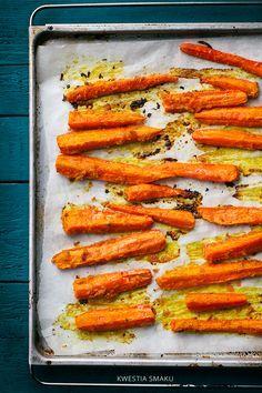 Pieczona marchewka z imbirem