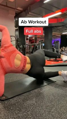 Full Body Gym Workout, Gym Workout Videos, Gym Workout For Beginners, Fitness Workout For Women, Waist Workout, Butt Workout, Abs Weight Workout, Ab Workouts With Weights, Gym Workout Routines