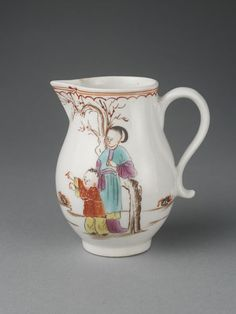 Cream-jug   Lowestoft porcelain factory   V Search the Collections