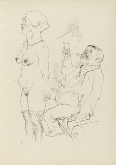 George Grosz. Plate 9 from Ecce Homo. 1922-1923 (reproduced drawings and watercolors executed 1915-22)