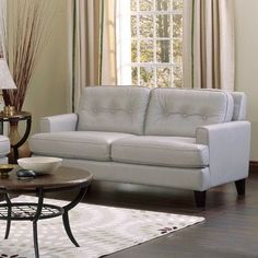 Palliser Furniture Barbara Leather Modular Loveseat Upholstery: All Leather Protected - Tulsa II Chalk, Finish: Bonded Leather - Champion Java