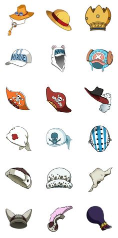 One Piece Hats by xNayuta.deviantart.com on @deviantART