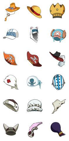 One Piece Hats by xNayuta.deviantart.com on @deviantART