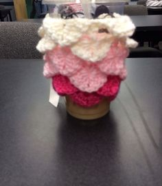 Crocodile stitch coffee cozy made by khrysta dailey