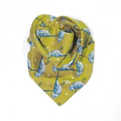Birds scarf.  http://www.eldasign.com/shop/scarfs/birds-2/