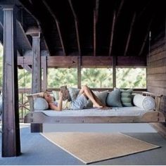 Just imagine. It's a quiet afternoon. You have a great book to read. You walk out on your own porch and curl up in your swingbed! And as you read,...