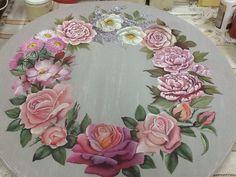 Pintura manual handmadepainting campestre francês Mundodaarteatelier