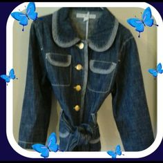 Tommy Hilfiger Nice Denim Jeans Jacket. Stylish Denim Jeans Jacket with Beautiful Gold Buttons. Great condition. Dress up or down in this stunning jacket. Tommy Hilfiger Jackets & Coats Jean Jackets