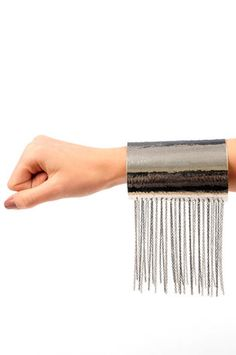 Chained Cuff  in Silver... this is sooooo Rock Star! Love it