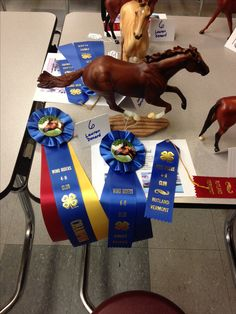 Wind Riders 4-H Model Horse Show. My Secretariat won champion in the Thoroughbred class!