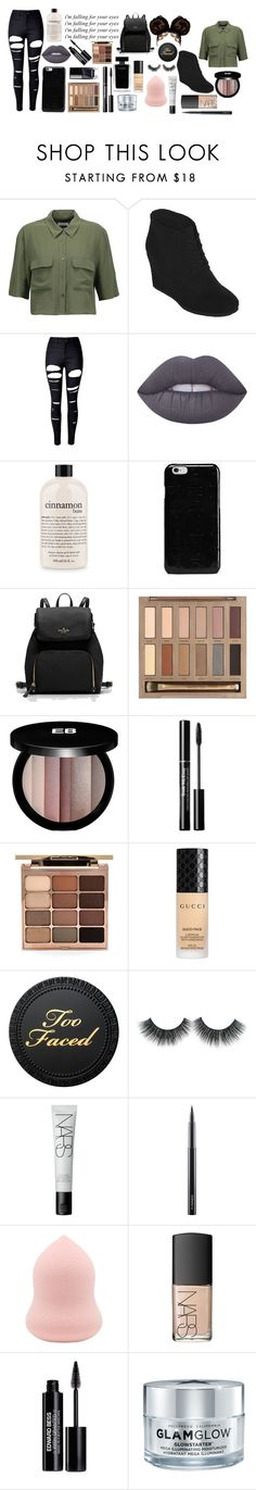 """""""Lunch"""" by jaidyn-909 on Polyvore featuring Equipment, Arizona, WithChic, Lime Crime, philosophy, Maison Margiela, Urban Decay, Edward Bess, Narciso Rodriguez and Stila"""