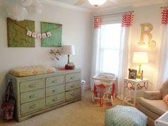 Project Nursery - Girl Heirloom Nursery--I like the vintage dresser color