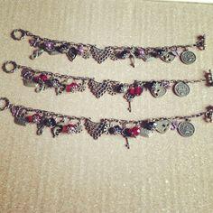 Sisterhood and bff charm bracelets...madecto order..❤❤❤❤