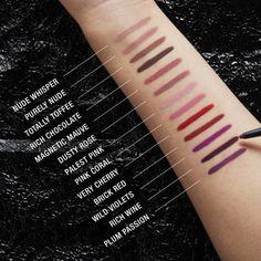 Maybelline Lip Liner, Mac Lip Liner, Lipstick For Dark Skin, Natural Lipstick, Lipstick Shades, Lipstick Palette, Matte Lipstick, Liquid Lipstick, Burgundy Lipstick