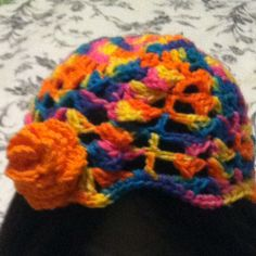 Girls spring/summer crochet hat