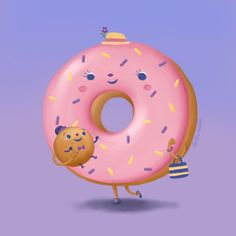 Mummy donut and baby donut ball going for a walk. I'm just in the mood for drawing food illustrations and the love of a mummy and child relationship, I would be doing more food based drawings I think but we shall see   #procreate #art #illustration #illustration #foodillustration #donut #donuts #bruneiartist #nursery #nurseryart #mummy #mummysboy #motherslove #cute #pastel #colourful #color #family