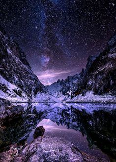 Night falls over the Alps.. by Fabio Antenore