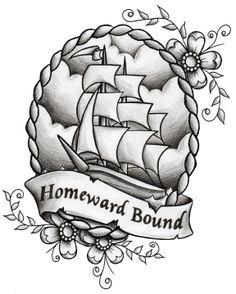 Homeward Bound Tattoo Design