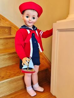 """Vintage 1958 1959 American Character HTF 35"""" Sandy McCall Playpal Boy Doll Betsy #AmericanCharacter #DollswithClothingAccessories"""