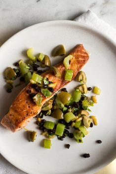 Pan-Seared Salmon With Celery, Olives and Capers Recipe - NYT Cooking