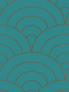 Pattern: RTT170 | Name: Retro Wall Paper - 1970s Collection - Fans Blue - #RTT-170 | Category: Retro | DesignerWallcoverings.com  Specialty Wallpaper & Designer Wallcoverings for Home and Office.