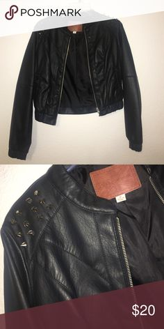 Leather jacket Disliked the studs sooo off and away it goes :p Jackets & Coats