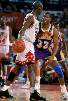 647602e2a368 Michael Jordan Chicago Bulls Horace Grant Earving Magic Johnson Los Angeles  Lakers A.