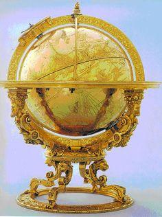 Mechanised Celestial Globe,1594!!! Bebe'!!! Awesome antique globe!!!