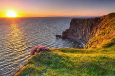 Cliffs of Moher at Sunset in Co. Clare, Ireland Photographic Print by Patryk Kosmider - Ireland Hotels, Clare Ireland, Cliffs Of Moher, Ireland Vacation, London Hotels, Vacation Packages, Guinness, Dublin, Tourism