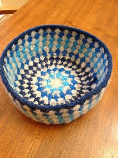 Felted Granny Bowl, I have wanted to do a cool felting project......BOOM!