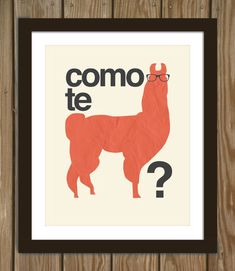Hipster Llama Quote Poster Print Como te llamas by Arcadiagraphic. , via Etsy. I need this, minus the hipster. Haha Funny, Lol, Hilarious, Funny Stuff, Funny Shit, Funny Things, Funny Memes, Spanish Puns, Spanish 101