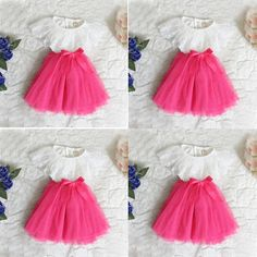 2016 Kids Baby Girls Princess Party Dress Lace Tulle Floral Ruffled Tutu Skirts #Unbranded #ArtDecoStyle