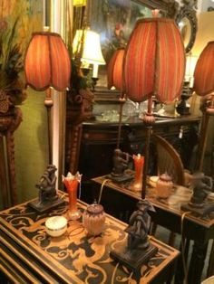 "Monkey Lamps On Sale  31"" High   Was $169 Sale Price $136  Grace Designs Booth #333  City View Antique Mall  6830 Walling Lane Dallas, TX 75..."