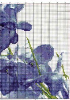 Gallery.ru / Фото #193 - TRIPTYCH - Ninicol Cross Stitch, Painting, Charts, Shabby Chic, Blue, Punto De Cruz, Dots, Flowers, Graphics
