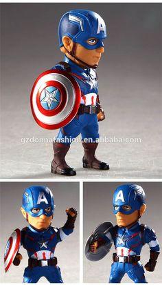 Iron Man Bobbleheads Toy Doraemon Statue Action Figure Avengers Marvel Kids Gift
