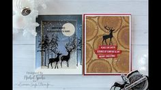 cardmaking video tutorial: Nichole Spohr creates two different cards using STAMPtember Tim Holtz stamps . luv the winter scene shaker card . woodsy clean and simple look on the other . Christmas Cards 2017, Christmas Deer, Christmas Design, Xmas Cards, Holiday Cards, Holiday Ideas, Card Making Inspiration, Christmas Inspiration, Tim Holtz Stamps
