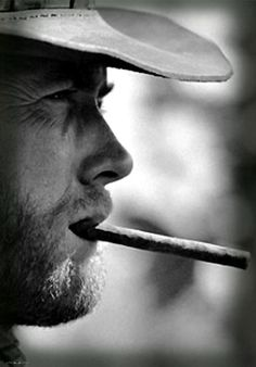 Clint Eastwood, i think it's the lines around his eyes I like the most
