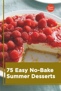 Too hot to turn on the oven? No problem! These easy summer desserts are ready in a flash and don't even need to be baked! So keep cool and reward yourself with these no-bake recipes.