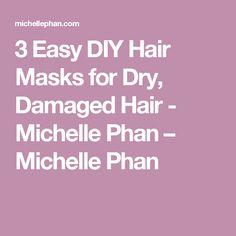 3 Easy DIY Hair Masks for Dry, Damaged Hair - Michelle Phan – Michelle Phan Hair Masks For Dry Damaged Hair, Diy Hair Mask, Hair Scrub, Hair Treatment Mask, Hair Fixing, Michelle Phan, Natural Hair Mask, Derma Roller, Hair Loss Remedies