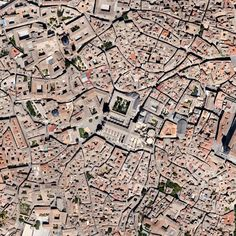 Toledo is all about stone and steel and getting lost in space and time. Google Earth.
