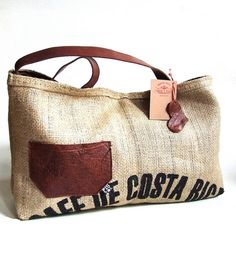 cafe costa rica - recycled bag